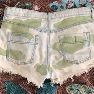 Free People Shorts - Free people denim cargo shorts